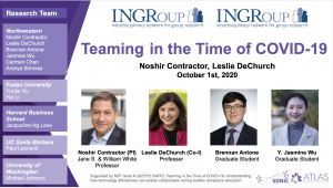Watch Noshir and Leslie's Welcome Plenary at INGRoup 2020!