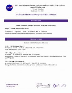 Upcoming NASA HRP IWS 2021 Presentations