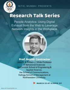 Contractor Presenting Tomorrow (03/23) at the NITIE Research Talk Series