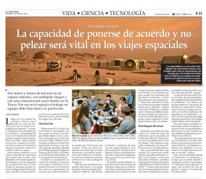 Contractor's 2021 AAAS Panel featured in El Mercurio