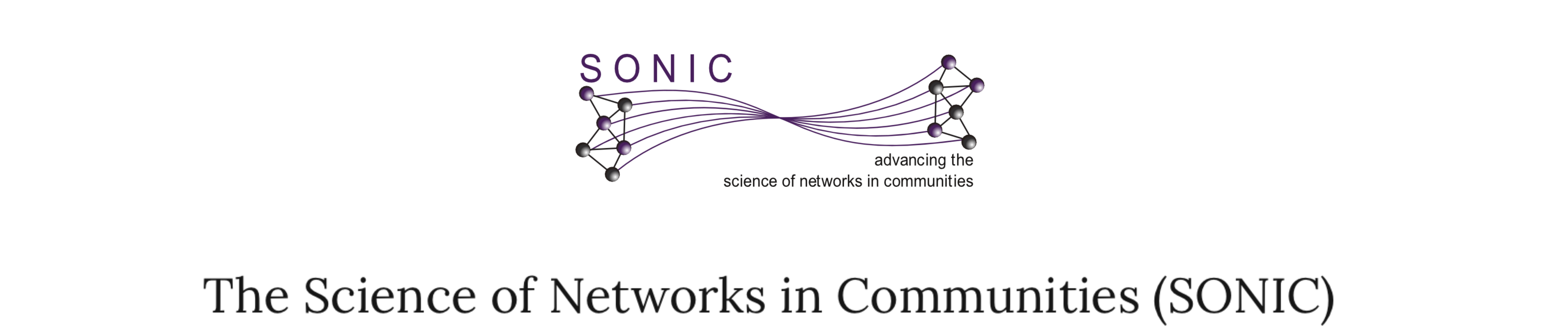 The Science of Networks in Communities (SONIC)